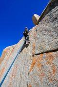 "Rock Climbing Photo: Richard Alden finishes ""One Crack Below""..."