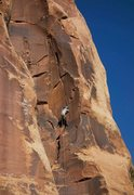 Rock Climbing Photo: Starting the last stretch of big hands that taper ...