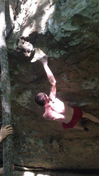 Rock Climbing Photo: Jesse Sell on Broken (V4).