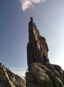 Rock Climbing Photo: Gunsight to south peak direct