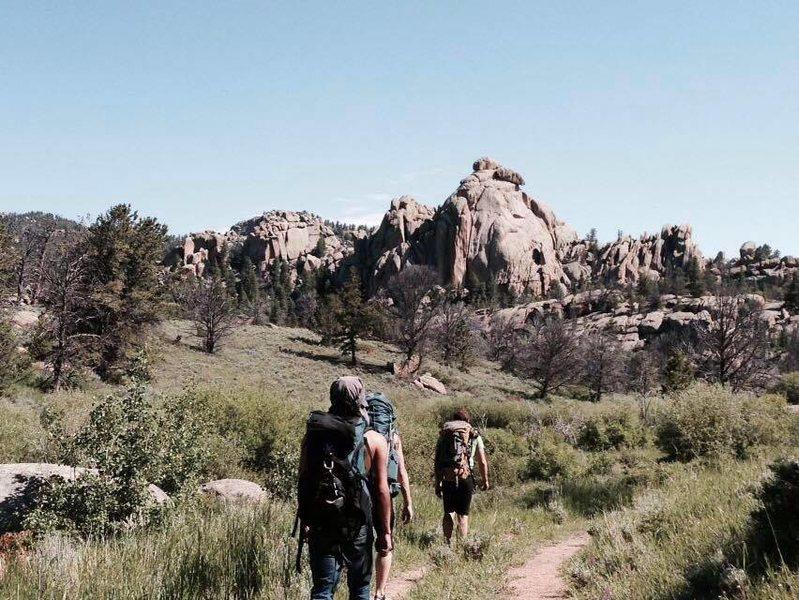 Rock Climbing Photo: hiking through vedauwoo