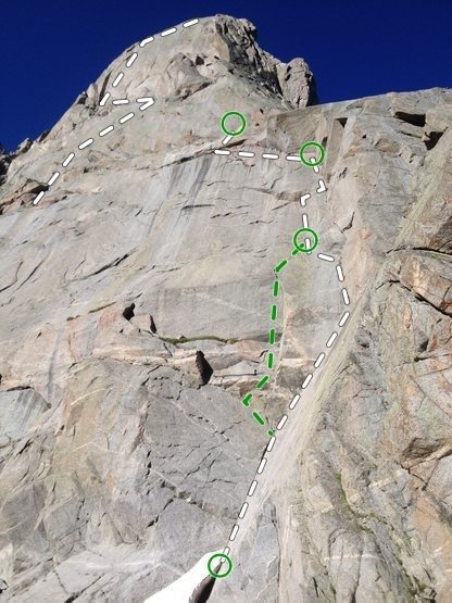 East Face, Plume, Warbonnet, Cirque of Towers Wyoming