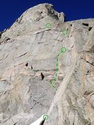 Rock Climbing Photo: East Face, Plume, Warbonnet, Cirque of Towers Wyom...