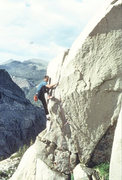 """Rock Climbing Photo: Marc Hill on the FA of """"Hidden Persuasion&quo..."""