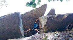 Rock Climbing Photo: Wild stemming!
