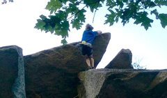 Rock Climbing Photo: About to pull the roof