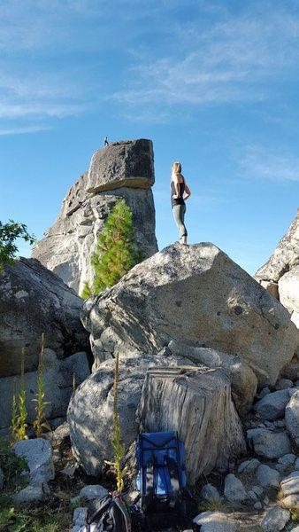 Rock Climbing Photo: Phantom Spires and me.