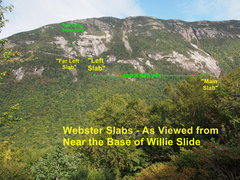 Rock Climbing Photo: Overview of the Webster Slabs