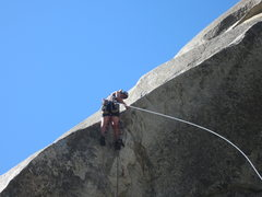 Rock Climbing Photo: Pulling the Kor roof