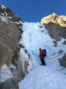 Rock Climbing Photo: 2nd ice step in Feb 2015