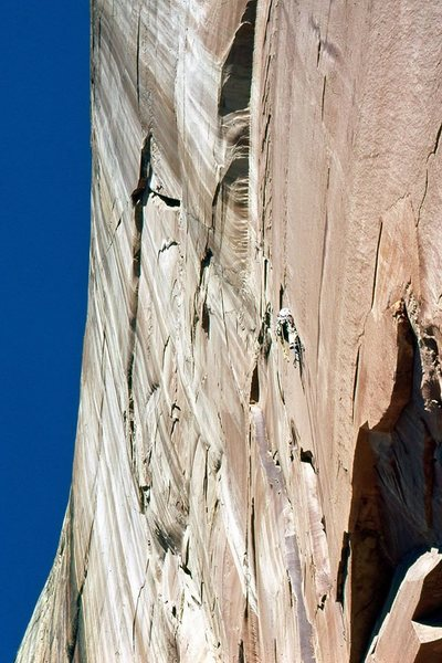 Rock Climbing Photo: Photo by Ed Fogels, October, 1980 Climber in cente...