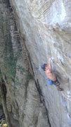Rock Climbing Photo: Cory sticking the dynamic last move.