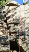 Rock Climbing Photo: Top it Out: Crack With No Name