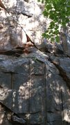 Rock Climbing Photo: The first shelf. Good gear placements once your ov...