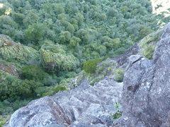 Rock Climbing Photo: The final headwall, pitch 4