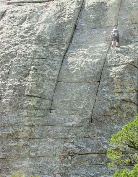 Rock Climbing Photo: Karen, making progress upward on Pure Pleasure.