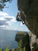 Rock Climbing Photo: Difficult bulge crux