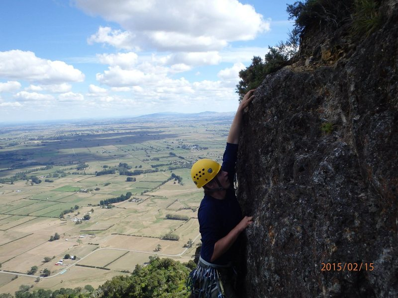 Because Buck Rock is located part way up Mt Te Aroha, there is great exposure and views.