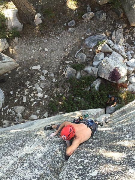 Rock Climbing Photo: Chicken Wing that crack