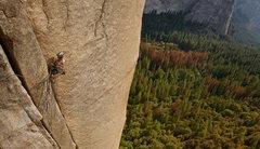 Rock Climbing Photo: 3rd pitch, penduluming !