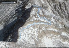 Rock Climbing Photo: Google Earth image.