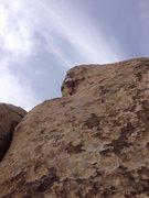 Starwars rock, Joshua Tree <br />  route unknown