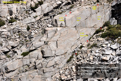 Rock Climbing Photo: Television Skies Crag looking east from below the ...