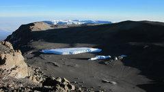 Rock Climbing Photo: Furtwangler Glacier. Western Breach tops out in sh...