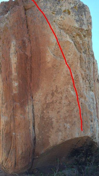Rock Climbing Photo: Nice warm up, scary fall though.