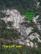 "Rock Climbing Photo: ""Far Left"" slab"