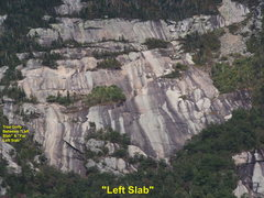 """Rock Climbing Photo:  """"Left Slab""""...about 600 yds Left of the..."""