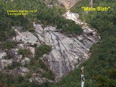 "Rock Climbing Photo: ""Main Slab"", ""EKO-Slab"" is the..."