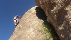 Rock Climbing Photo: Charlie Richardson on Unknown buttonhead/rivet han...