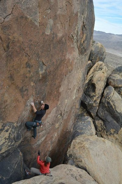 Rock Climbing Photo: Andy Litak at the start of Iron Man.