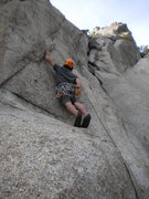 Rock Climbing Photo: Drew working through the wild third pitch