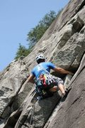 Rock Climbing Photo: Fun moves to the nice ledge above the dihedral