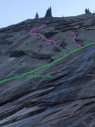 Rock Climbing Photo: The Harem Route as seen from below the approach sl...