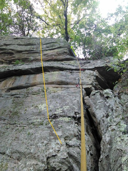 Rock Climbing Photo: Wilderness Socialism in orange, left of the rope. ...