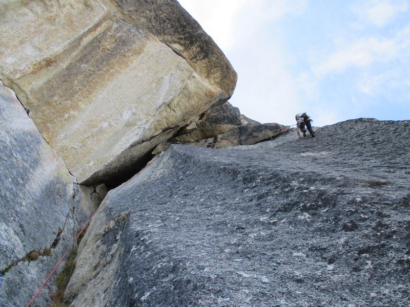 Rock Climbing Photo: Erica Engle at the end of the traverse of the &quo...