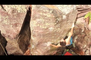 Rock Climbing Photo: The funky move to the horn the name is derived fro...