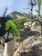 Rock Climbing Photo: Angela Hawse belaying Erica Engle up the 2nd pitch...