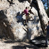 Stephen and Bryn (now 12) bouldering at The Gardens.