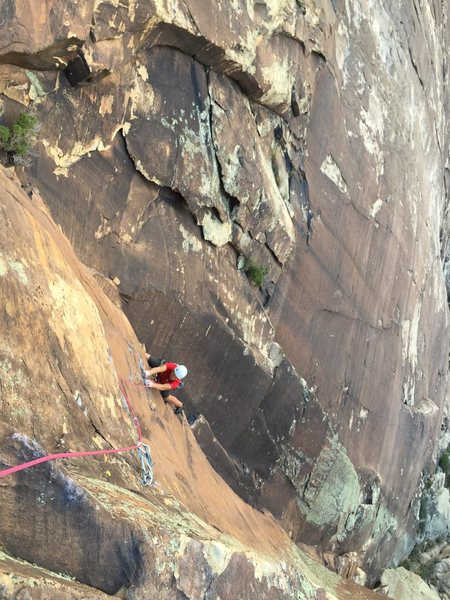 Matt following the crux P3.