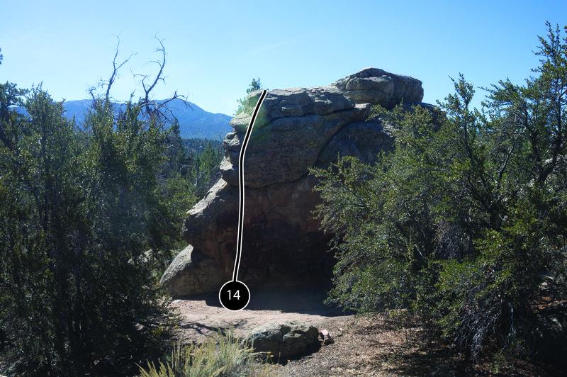 Rock Climbing Photo: Route 14.