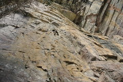 Long climb on good rock: Public Enemy!