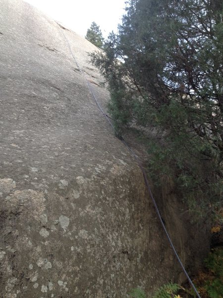 Rock Climbing Photo: The route with a rope on it.