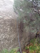 Rock Climbing Photo: The bottom which I think is the crux  (before the ...