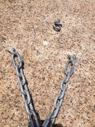 Rock Climbing Photo: The anchor. It is no longer buttonhead bolts.
