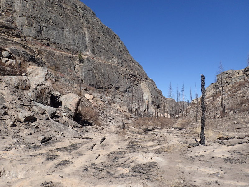 Main Canyon from the south - 1 month after the fire of 2015