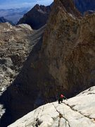 Rock Climbing Photo: Erik Harz following P2 of the Beckey-Reese on Day ...